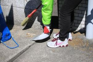 ゴミ置き場の日常清掃